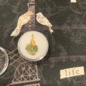 Genuine heart shaped Moldavite pendant